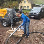 Baumamt Hallwang liefert Kaffee zur Baustelle