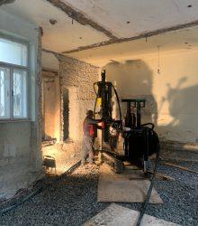 Nachgründung Salzburg Altstadt - erreichte Gründungstiefe bis 26,5 Meter
